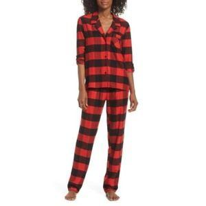 NORDSTROM Lingerie Starlight Flannel Pajamas Set M